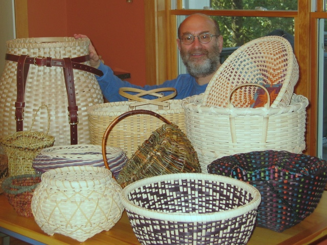 Phil Passen and his baskets
